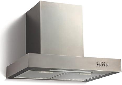 Jago - DAH03 - Campana extractora de humo de acero y vidrio - Aprox. 60 x 50 x 50 cm: Amazon.es: Hogar