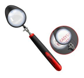 """Ullman MG-2LT LED Telescoping Magnifying Glass with Stainless Steel Handle, 2"""" Viewing Diameter"""
