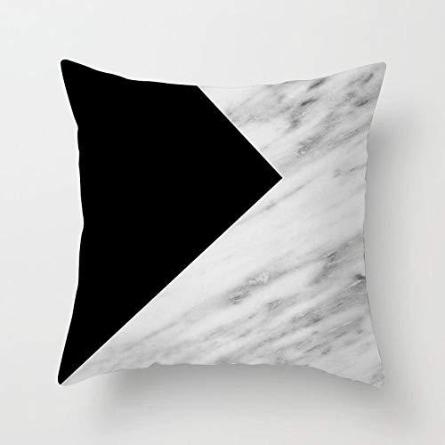 KDTCDBYMX Fundas para Cojines Lino Sofá de mármol geométrico ...