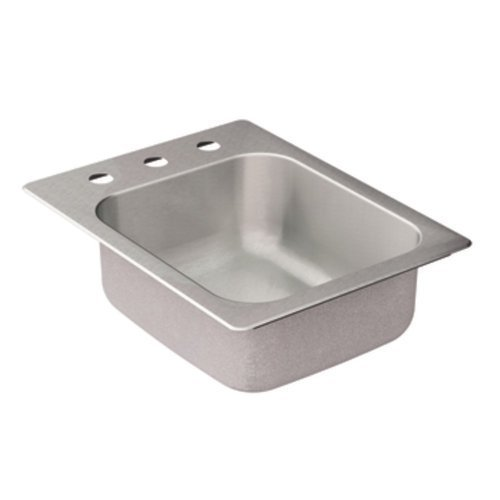 Moen G204573 2000 Series 20 Gauge Single Bowl Drop In Sink, Stainless Steel by Moen by Moen
