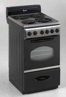 Avanti ER2002CSS Electric Range - 20 Wide - Single Oven - 2.
