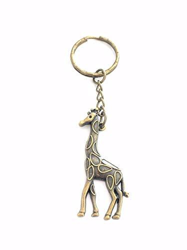 ON SALE - Bronze Giraffe Keychain, Zoo Animal Key Chain, Gift for Women, Men, Boy, Girl, Daughter, Son - Unisex