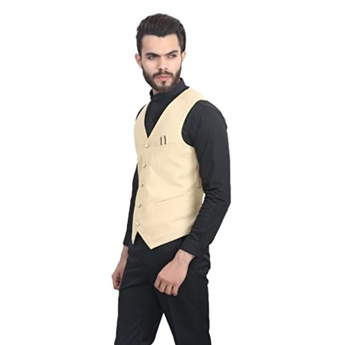 31yKfQz8pIL. SS500  - ManQ Men's Blended Waist Coat