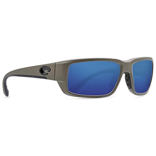 Costa Fantail Plastic Frame Blue Mirror Lens Men's Sunglasses ()