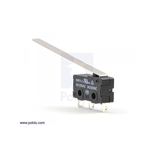 Snap-Action Switch with 50mm Lever: 3-Pin, SPDT, 5A Pololu