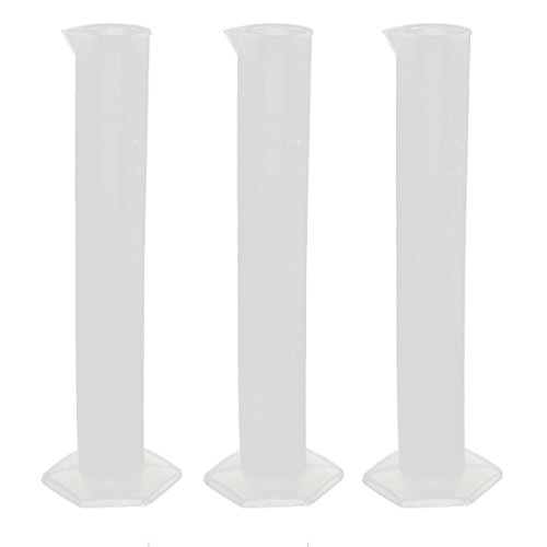 Cylinder Lab Liquid Container Graduated Measuring Beaker 100mL 3 Pcs by uxcell