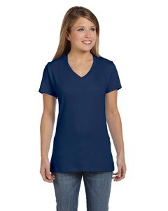 Steel Vintage T-shirt - Hanes Women's Nano- V-Neck T-Shirt Vintage Navy Small