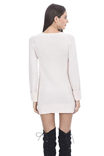 425aeb68 State Cashmere Women's 100% Cashmere Long Sleeve Crew Neck Sweater Dress