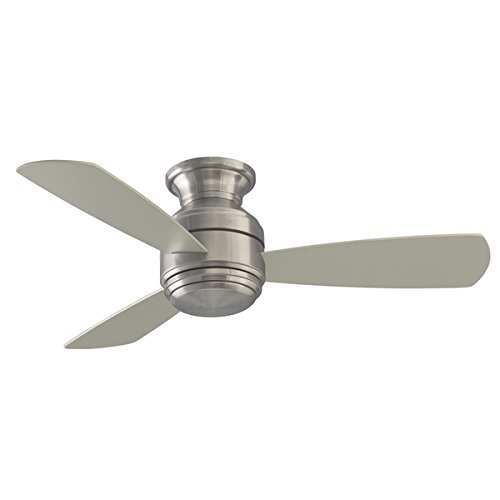 Fanimation Studio Collection Level 44-inch Snugger Fan with LED Light Kit - Brushed Nickel