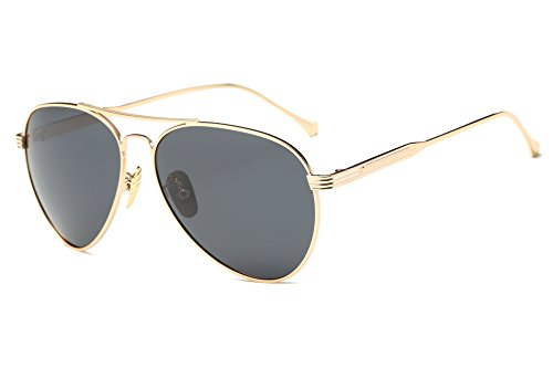 GAMT Aviator Polarized Sunglasses for Men and Women Gold Frame Black - Sale Cheapest Sunglasses