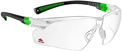 NoCry Safety Glasses with Clear Anti Fog Scratch Resistant Wrap-Around Lenses and No-Slip Grips, UV