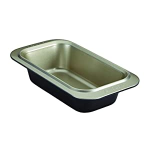 Anolon Nonstick Bakeware Loaf Pan, 9 x 5 Inch, Onyx/Pewter