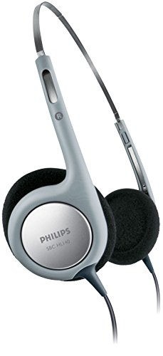 Philips SBCHL140/10 Ultra Lightweight On-Ear Cabled Headphones (Grey)