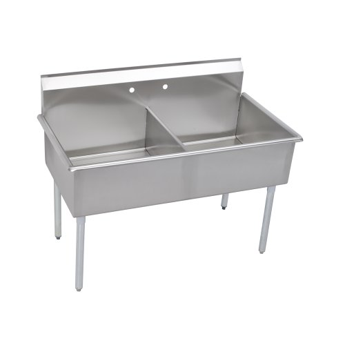Elkay 2 Compartment Professional Grade Commercial Kitchen Stainless Steel Sink, 18''W x 21''L x 12''D by Elkay Foodservice