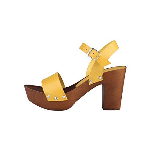 Ana Lublin Dayana - Sandalias de tacón Mujer Amarillo