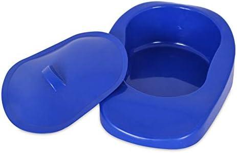 蓋付きの便器は、ダークブルー高齢パーソナルケアビデ鍋、使いやすいが、寝たきり障害者や妊婦のためのパンをベッドSMOOTH