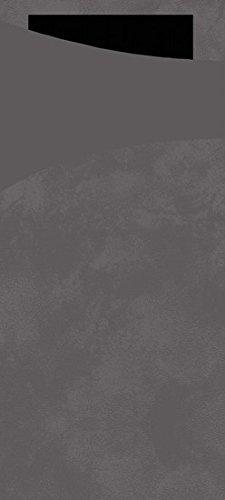 Pack of 100 Duni Sacchetto Napkin Bag Granite Grey 8.5/x 19/cm Plain Tissue 2-Ply Black