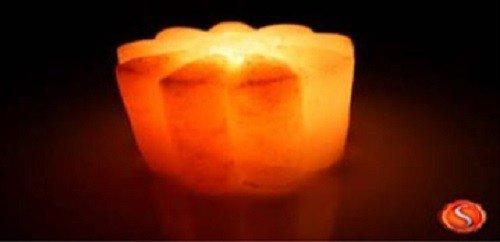 *Himalayasalz Kristallsalz Salzlampe TEELICHT Rosenform