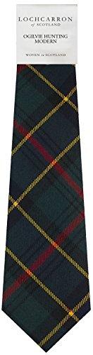 Clan Tie Ogilvie Hunting Modern Tartan Pure Wool Scottish Handmade Necktie
