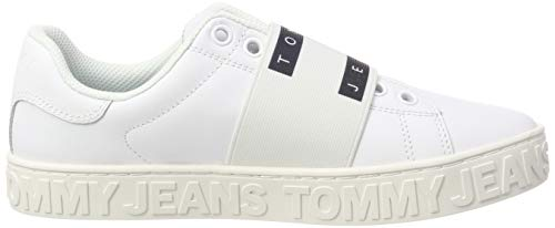 white Slip Sneaker Femme Tommy Basses Jeans Cool On Blanc Sneakers 100 wfwOazxq