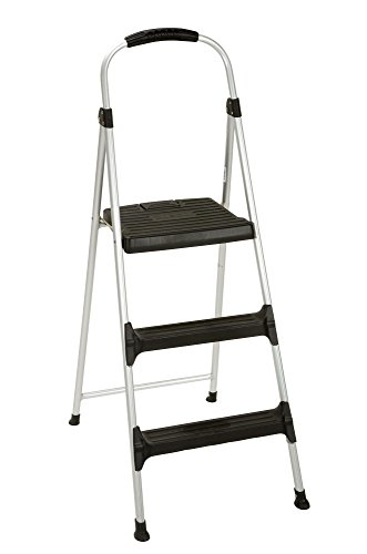 (Cosco Signature Step Stool Three-Step Aluminum with Plastic Steps)