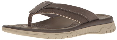 CLARKS Mens Balta Sun Flip-Flop Dark Brown 9ziJC