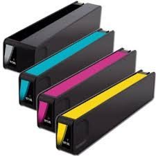 Remanufactured Replacement for HP 970 XL & HP971 XL Toner Cartridges (1 Black, 1 C, M, Y for HP OfficeJet Pro X451DW X451DN X551DW X476DN X476DW X576DW
