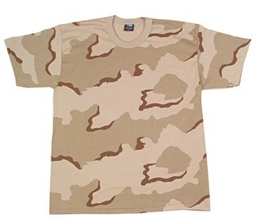 (Rothco Kids T-Shirt, Tri-Color Desert Camo, Small)