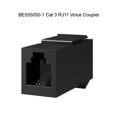Voice Coupler - Category 3, RJ-11,6 PIN Modular Coupler - Voice Modular Coupler