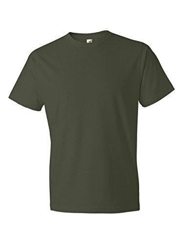 Anvil Men's Lightweight Tee, City Green, Large - 2004 Green T-shirt