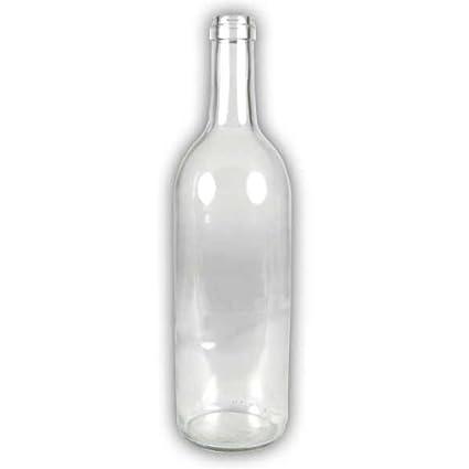 Botellas de vino de cristal transparente - 37,5 cl - 20 unidades