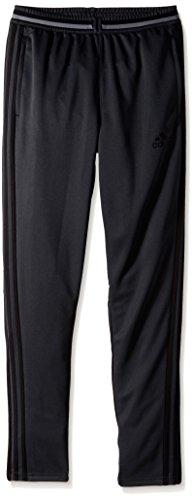 adidas Youth Soccer Condivo 16 Pants, Dark Grey/Black, Large