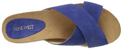 Dark Blue Nine Platform Sandale Suede West Amyas wCqXv