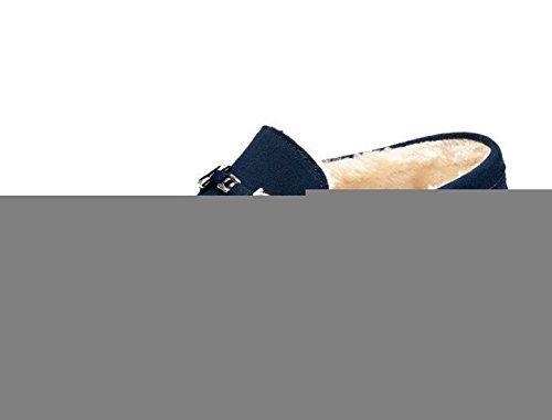 Miyoopark UK-XCR9105, Herren Schnürhalbschuhe Dark Blue-Fur Lined