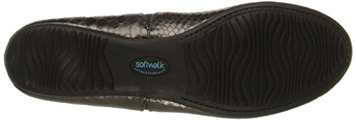 Softwalk Mujer Norwich Ballet Flat Gris (Pewter Snake)