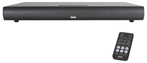 Pyle Upgraded 2017 Soundbar Sound base With Built in Subwoofer Home Theater System & Wireless Bluetooth Speaker System Sound Bar, Remote Control, AUX RCA Optical Digital Inputs for TV PC (PSBV600BT)