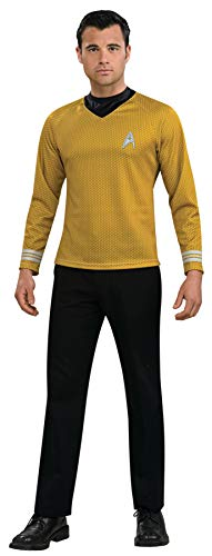 Star Trek Next Generation Halloween Costume (Rubie's Star Trek Gold Star Fleet Uniform Shirt, Gold, Medium)