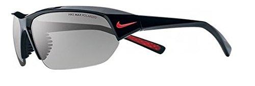 Nike Skylon Ace P Sunglasses, Shiny Black/Matte Black, Grey Max Polarized - Ace Skylon Nike Sunglasses