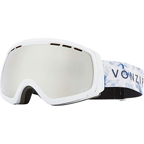 Vonzipper Feenom NLS Adult Snowmobile Goggles - White Satin/Wild Silver Chrome/One Size