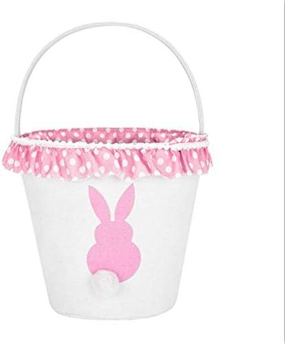 H.Xin Easter Eggs Basket Rabbit theme basket Pink