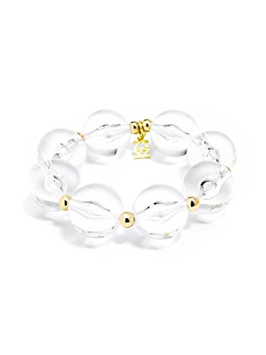 ZENZII Chunky Beaded Lucite Bracelet (Clear)