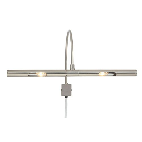 PC16KB 16-Inch 30-Watt Incandescent Plug-In Picture Light, Nickel