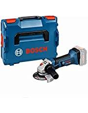 Bosch Professional 18V System sladdlös vinkelslip GWS 18-125 V-LI (obelastat varvtal: 10000 v/min, skiv-Ø: 125 mm, utan batterier och laddare, i L-BOXX)