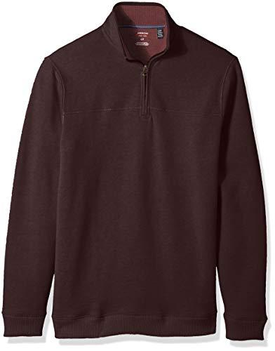 (Arrow 1851 Men's Big and Tall Saranac Long Sleeve 1/4 Zip Sueded Fleece Pullover, Fudge Heather, X-Large)
