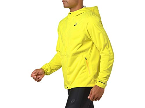 ASICS Men's Accelerate Jacket Running Clothes, M, Lemon Spark by ASICS (Image #2)
