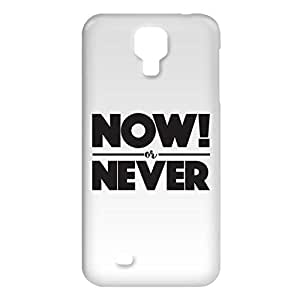 Loud Universe Samsung Galaxy S4 Now or Never Print 3D Wrap Around Case - White/Black
