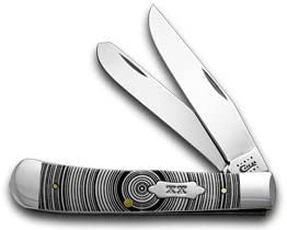 CASE XX White Delrin Tree Ring Trapper 1 500 Pocket Knife Knives