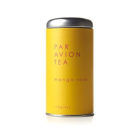 - Par Avion Tea Mango Rose - Exotic Blend of Green, White, and Oolong Tea With Lush Mango And Yellow Rosebuds - Small Batch Loose Leaf Tea in Artisan Tin - 4 oz