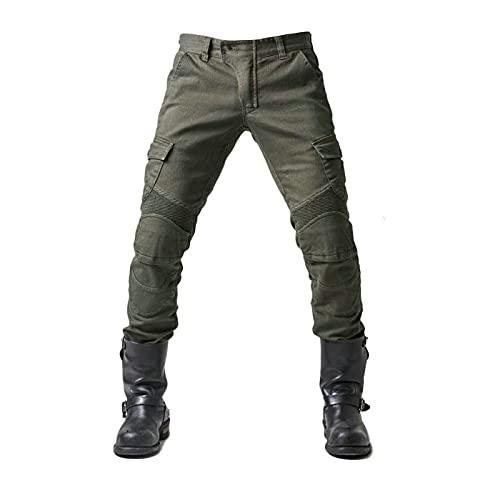 JICAIXIAYA Herren Motorradhose Mit Abnehmbar Schutzauskleidung, Sportliche Motorrad Hose Mit Protektoren Atmungsaktiv…