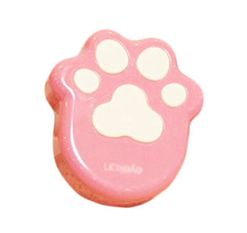 Creative Cute Pink Cat's Footprint Contact Lens Cases (Cheap Halloween Cat Contact Lenses)